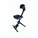QuikLok DX-749 Height Adjustable Musicians Stool with Adjustable Footrest and Ba