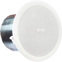 QSC AC-C6T 6 Inch Two-Way Ceiling Speaker 70/100V Transformer with 8 Ohm Bypass 110 Degree Conical Coverage - Pair