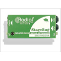 Radial SB-2 Compact Passive DI For Bass & Keyboards W/ Stereo To Mono Mix