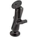 RAM-101U C Size 1.5 Inch Ball Mount with 2/2.5 Inch Round Plate AMPs Hole Pattern - with 2 RAM-202 & Arm