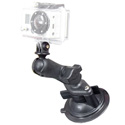 RAM RAP-B-166-GOP1 Composite Twist-Lock Suction Cup Mount with Universal Action Camera Adapter