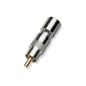 Male RCA-Nickel Body-Gold Pin for RG6 Cable