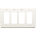 RDL CP-4 Quadruple Cover Plate - White