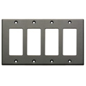 RDL CP-4G Quadruple Cover Plate - gray