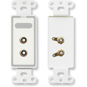 RDL D-PHN2 Dual RCA Jacks on Decora Wall Plate - Solder type