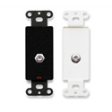 RDL DB-F Double Type F Jack on Decora Wall Plate