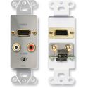 RDL DS-AVM4 Audio and Video Monitor Jack Panels