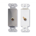 RDL DS-PHN1 Single RCA Jack on Decora Wall Plate - Solder type - Stainless steel