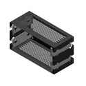 RDL RK-2UX 19 Inch Utility Rack Chassis - 2 RU extension