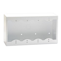 RDL SMB-4W Surface Mount Box for Decora Remote Controls and Panels - White