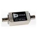 RF Venue BPF500T550 Band-Pass Filters (500-550 MHz)