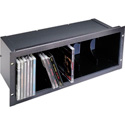 Middle Atlantic 4 Space CD Shelf - Anodized Finish