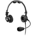 RTS LH-302 Double-Sided Headset Dynamic Mic - XLR 5-Pin Female Connector