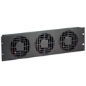 Raxxess NAF33QBA  3 RU Quiet Triple Fan Panels