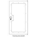 Raxxess NG1D44P G1 Enclosed Rack Door - 44RU - Plexi