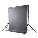 Savage 62037-7012 Port-A-Stand Vinyl Kit 5 x 12 Foot with Stand - Photo Gray