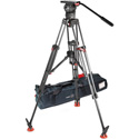 Sachtler 1265 DV 12 SB Fluid Head plus Tripod Speed Lock CF & Mid-Level Spreader 100/150 with Rubber Feet and Padded Bag