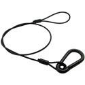30 Inch Black Safety Cable w/ 5/16 Inch Springhook