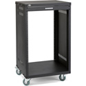 Samson SRK16 16-Space 18-Inch Deep Universal Equipment Rack with Casters
