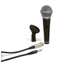 Samson R21S Dynamic Cardiod Handheld Mic with Switch - Mic Clip  XLR cable