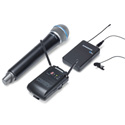 Samson SWC88VBH108-K Concert 88 Camera UHF Wireless System - Combo Handheld Q8 & Lavalier LM10 (K Channel)