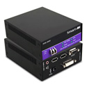 Smart FDX-3000S DVI-D Stereo Audio USB 1.1 RS-232 Multimode Fiber Extender Up to 1400ft.