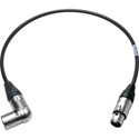 Sescom SC1.5XAXJ Audio Cable Canare Star-Quad Right Angle XLR Male to XLR Female  - 1.5 Foot