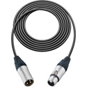 Canare Star-Quad Microphone Cable 3-Pin XLR Male to Female 6 Foot - Black