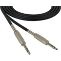 Sescom SC25SZSZ Audio Cable Canare Star-Quad 1/4 Inch TRS Male to Male Black - 25 Foot