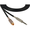 Canare Star-Quad Cable 1/4-Inch TS Male to RCA Female 50 Foot - Black