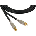 Sescom SC6RR Audio Cable Canare Star-Quad RCA Male to RCA Male Black - 6 Foot