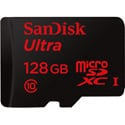 SanDisk SDSQUNC-128G-AN6IA Ultra 128 GB MicroSDHC - Class 10/UHS-I - 80 MB/s Read - 1 Card CLASS 10 80MB/S UHS-I Card