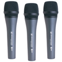 Sennheiser E835 Dynamic Microphone 3-Pack