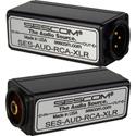 Sescom AUD-RCA-XLR 1-Channel RCA to XLR Unbalanced to Balanced Audio Converter