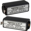 Sescom AUD-XLR-RCA 1-Channel XLR to RCA Balanced to Unbalanced Audio Converter