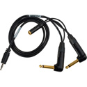 Sescom SES-BMC-FR-MON-3 Blackmagic Cinema Camera to Audio Recorder Cable w/H-Tap