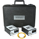 Sescom SES-FA2-Kit Portable 2-Channel Mic & Line Level Audio Over Fiber Extender System with Carrying Case
