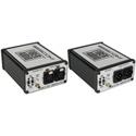 Sescom SES-FA2 Portable 2-Channel Mic & Line Level Audio Over Fiber Extender Kit