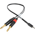 Sescom SES-IPSUMTS18IN 1/4 Inch Plug to TRRS 3.5mm Plug Line to Mic Level iPhone / iPod / iPad Summing Cable - 18 Inch
