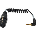 SESCOM SES-MKE600-COIL XLR Shotgun Mic to DSLR Audio Input Cable - 18 Inch