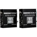Sescom SES-X-FA2 Fiber Extender Kit / 2-Channel Mic & Line Level / Audio Over Single Fiber / Portable Battery Powered
