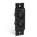 Dual XLR Female Adapter Mono/Stereo Plate - Two Female XLR Connectors