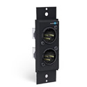 Dual XLR Male Adapter Mono/Stereo Wall Plate - Two male XLR connectors