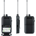 Shure P3R-J13 Wireless Bodypack Receiver for PSM300 Monitor System - J13 Frequency 566-590 MHz