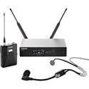 Shure QLXD14/SM35-H50 QLX-D Headworn Microphone System - (534 - 598 MHz)