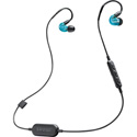 Shure SE215 Special Edition Wireless Sound Isolating Earphones - Bluetooth Enabled Communcation Cable - Translucent Blue