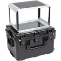 SKB 3I-2317-146U iSeries Case with Removeable 6U Rack Cage TSA Locking Latches & Wheels