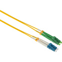 Camplex SMD9-ALC-LC-003 APC LC to UPC LC Singlemode Duplex Fiber Optic Adapter Cable  - Yellow - 3 Meter