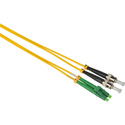 Camplex SMD9-ALC-ST-001 APC LC to UPC ST Singlemode Duplex Fiber Optic Adapter Cable  - Yellow - 1 Meter