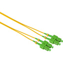 Camplex SMD9-ASC-ASC-001 APC SC to APC SC Singlemode Duplex Fiber Optic Patch Cable - Yellow - 1 Meter